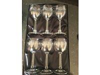 Set of 6 CHARLES RENNIE MACKINTOSH designer Wine Glass set