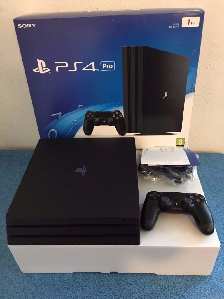 sony ps4 pro 1tb playstation 4 pro 4k 5 games in mint. Black Bedroom Furniture Sets. Home Design Ideas