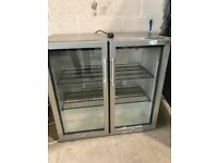 double door drinks fridge stainless