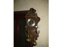 German Dutch wall clock,large atlas chiming wall clock with FHS workings