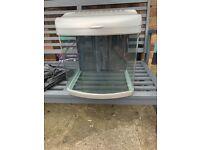 Aquaworld Mini Aquarium 35L - full working order, includes filter medium and tubing for water pump