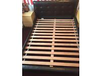 5ft king size leather bed frame
