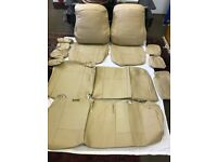PVC Leather Seat Covers Head rest Hand rest Covers For Toyota PRIUS 2005-15 in cream