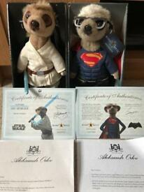 Aleksandr as Luke Skywalker and Sergei as Superman Meerkats