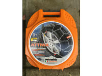 Pair of Weissenfels Clack and Go Snow Chains for Passenger Cars - fits tyre size: 155/70/13