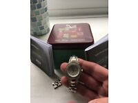 Ladies fossil stainless steel watch.