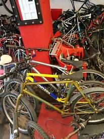 Omerta olive green mountain bike