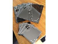 NEXT Diamanté & Smoked Glass Place mats