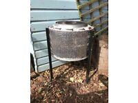 Upcycled firepit/patio heater/wood burner