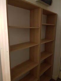 2 shelf unit in Beech colour