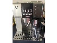 In very good condition, bean to cup coffee machine with milk frothier, makes all types of coffees.