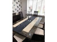 Patra Dining Table And 6 Chairs From Harveys Also Matching Sideboard Available