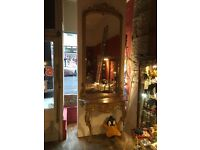 Antique French Mirror and Console Table