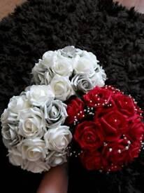 Bride/Bridesmaid artificial bouquets