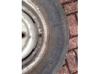 4 Commercial Tyres with rims