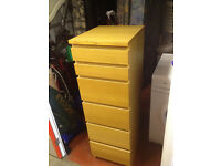 IKEA Maln tall chest of drawers with mirror and jewellery shelf