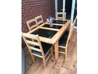 6 Seater Solid Oak Dining Table and Chair set