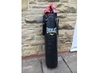 Everlast 4ft Boxing Punch Bag & Gloves