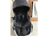 Baby Jogger City Select Double Buggy Second Seat in Black