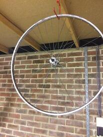 700c front bicycle wheel with fixed axle
