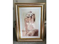 Beautiful Large Framed Wall Picture in Pristine Condition