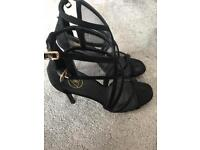 Black mesh heels from missguided size 6/7
