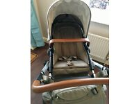 JOOLZ DAY EARTH PUSHCHAIR & CARRYCOT + CAR SEAT & BASE + FOOTMUFF & CHANGING BAG (ELEPHANT GREY)