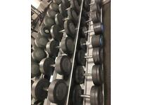Set of 32 Dumbbells from top Glasgow gym