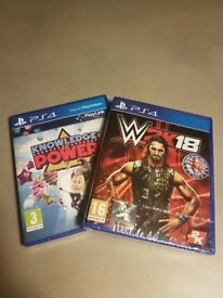 PS4 Games - W2K18 & Knowledge is Power - both brand new and sealed