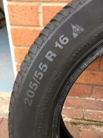 4 x Continental winter tyres 205 55 R16