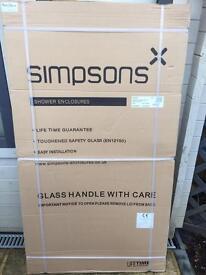 Brand new-semi frameless simpsons single bath screen