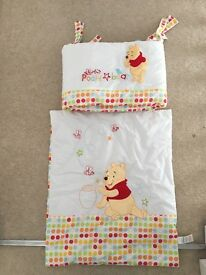 Whinnie the pooh crib bedding set