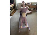 Purple Unicorn Rocking Horse