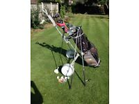 MIZUNO FALDO GOLF CLUBS IN PING BAG WITH TROLLEY - MENS RIGHT HAND