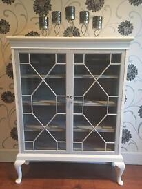 Up-cycled vintage display cabinet