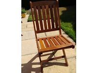 Set of 4 Folding Garden Chairs in Meranti Hardwood