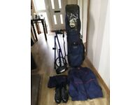 MACGREGOR GOLF CLUBS, WATERPROOF SET AND SHOES