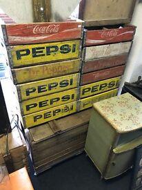 Vintage American soda crates