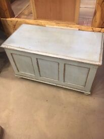 Up Cycled Time Worn Finish Blanket Box / Chest
