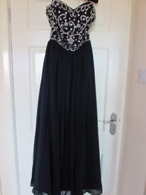 Navy Blue with Sparkly Bodice Prom Dress, size 6/8, worn once