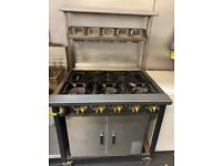 5 Burner commercial Gas cooker with Oven