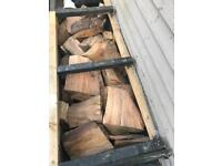 Free seasoned firewood and fire pit