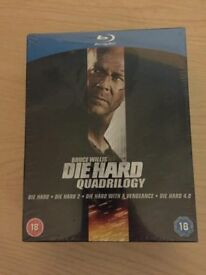 Die Hard Quadrilogy Boxset + DH5 (Blu-Ray) Brand New & Sealed