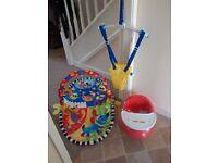 Baby playmat, Door bouncer and Snug chair
