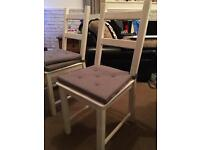 4 x ikea wooden chairs.