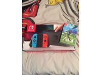 Nintendo Switch Neon & Zelda (Brand New)