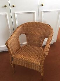 Rattan bedroom chair