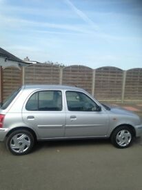 Micra 1.0 automatic 5door 03 Redg 50000 miles f s h mot until April 2019 in silver