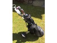 Golf clubs, bag & trolley for sale