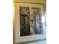 2 x next black and white photo prints in silver frames